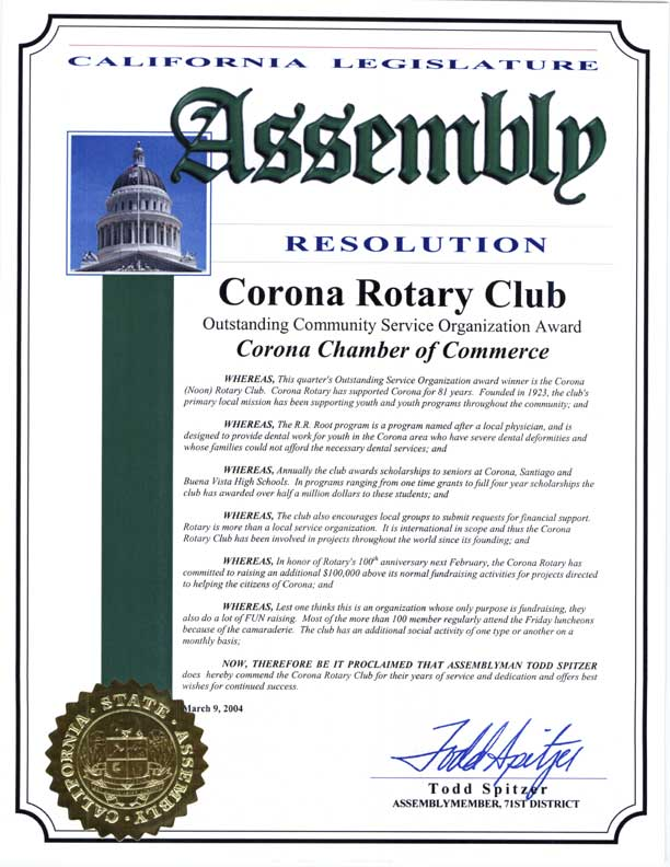 State Assembly Recognition